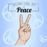 Free Peace Day Vector Blue
