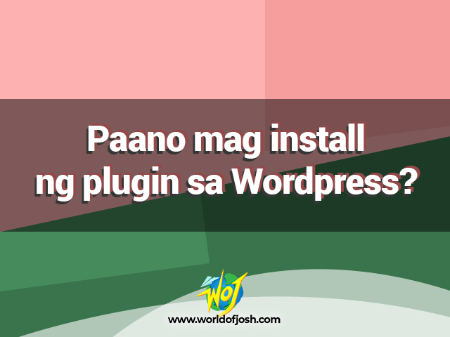 mag install ng plugin sa wordpress