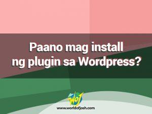 mag install ng plugin sa wordpress