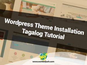 wordpress theme installation tagalog